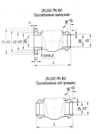 Задвижка ЗКЛП 100-63
